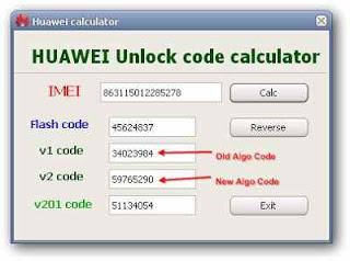 Huawei unlock code calculator tool