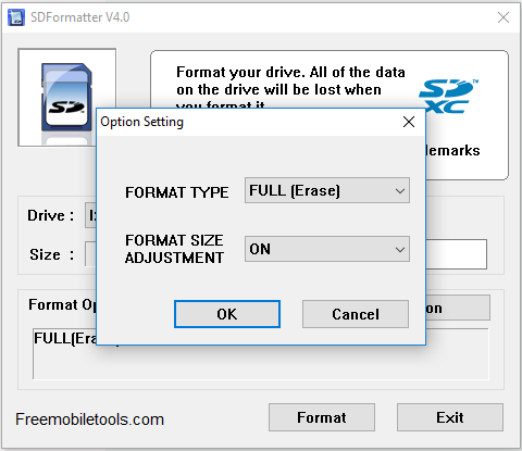 SD Card Formatter Tool