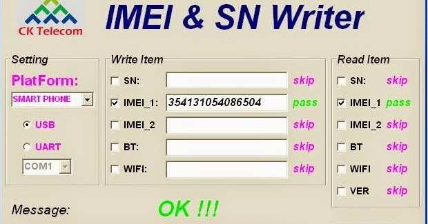 IMEI SN Write Tool
