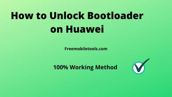 Unlock Bootloader on Huawei