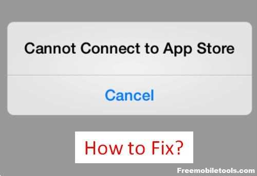 iphone Can Not Connect to App Store